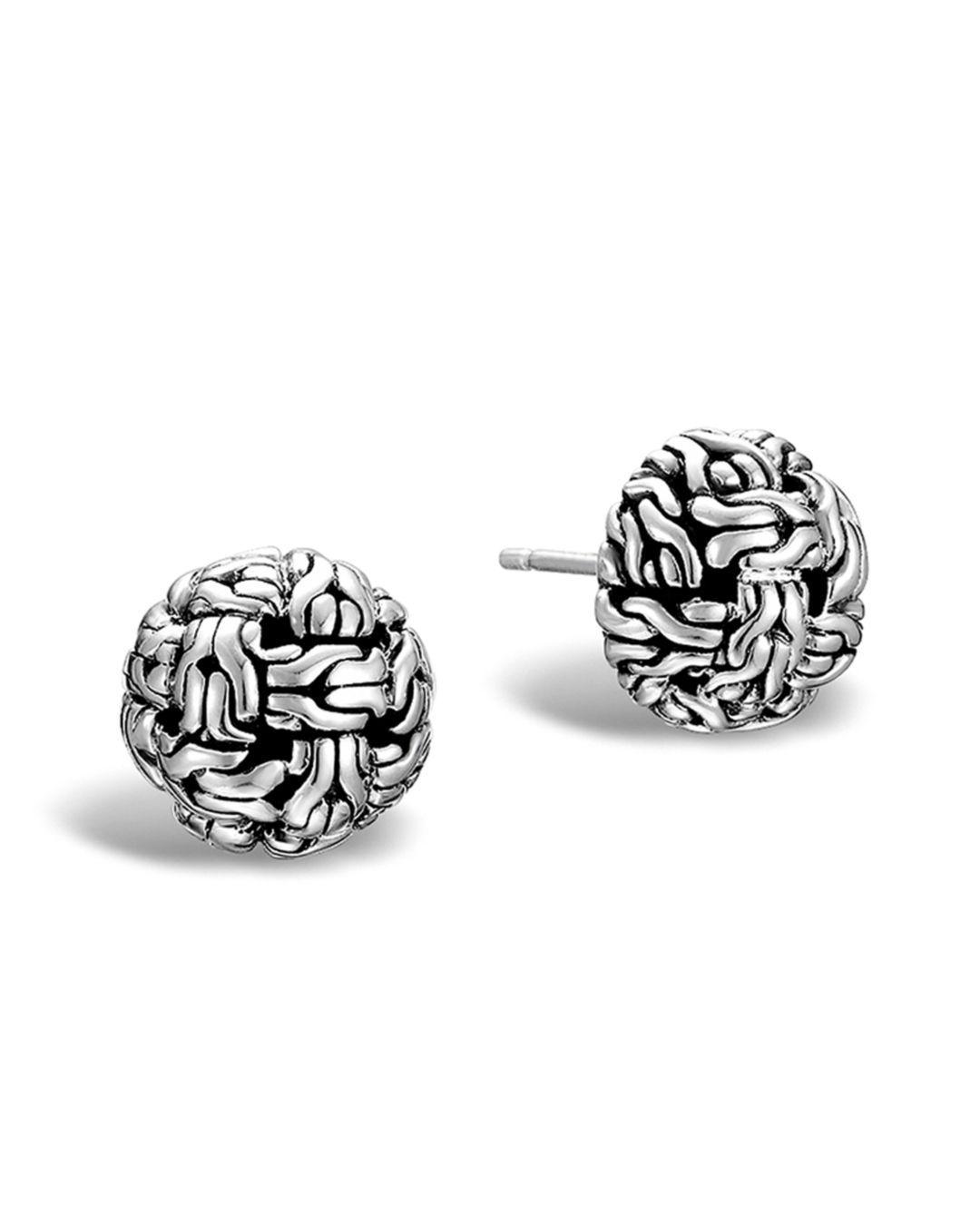 3638ddecd John Hardy. Women's Metallic Classic Chain Silver Knot Stud Earrings