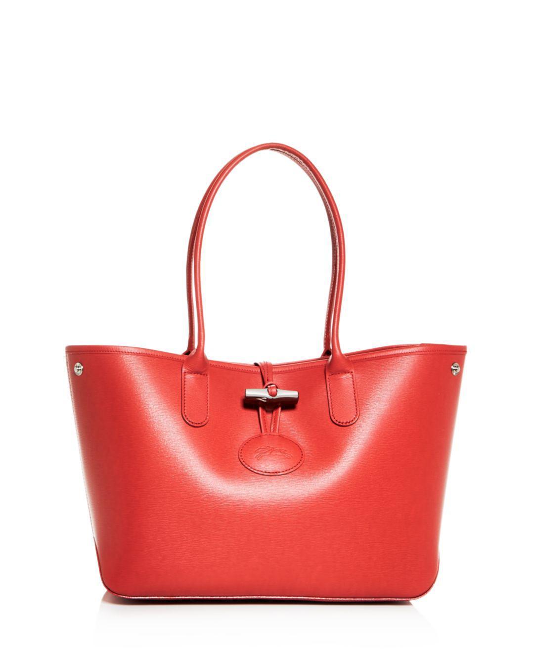 Lyst - Longchamp Roseau Small Leather Tote 6303e8ab85562