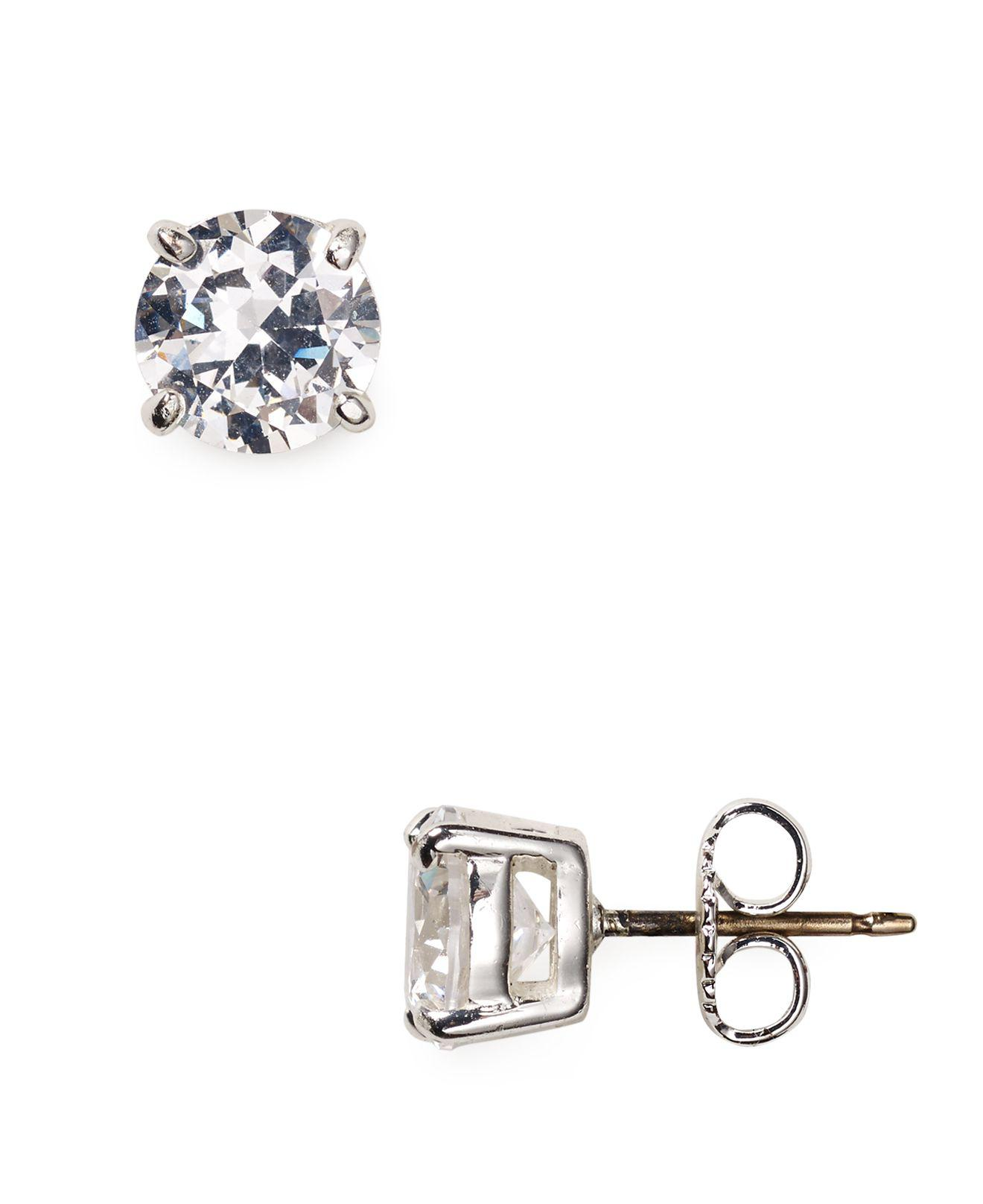 earrings stud small gold white johnlewis at pdp rubover cubic online zirconia buyibb rsp ibb main