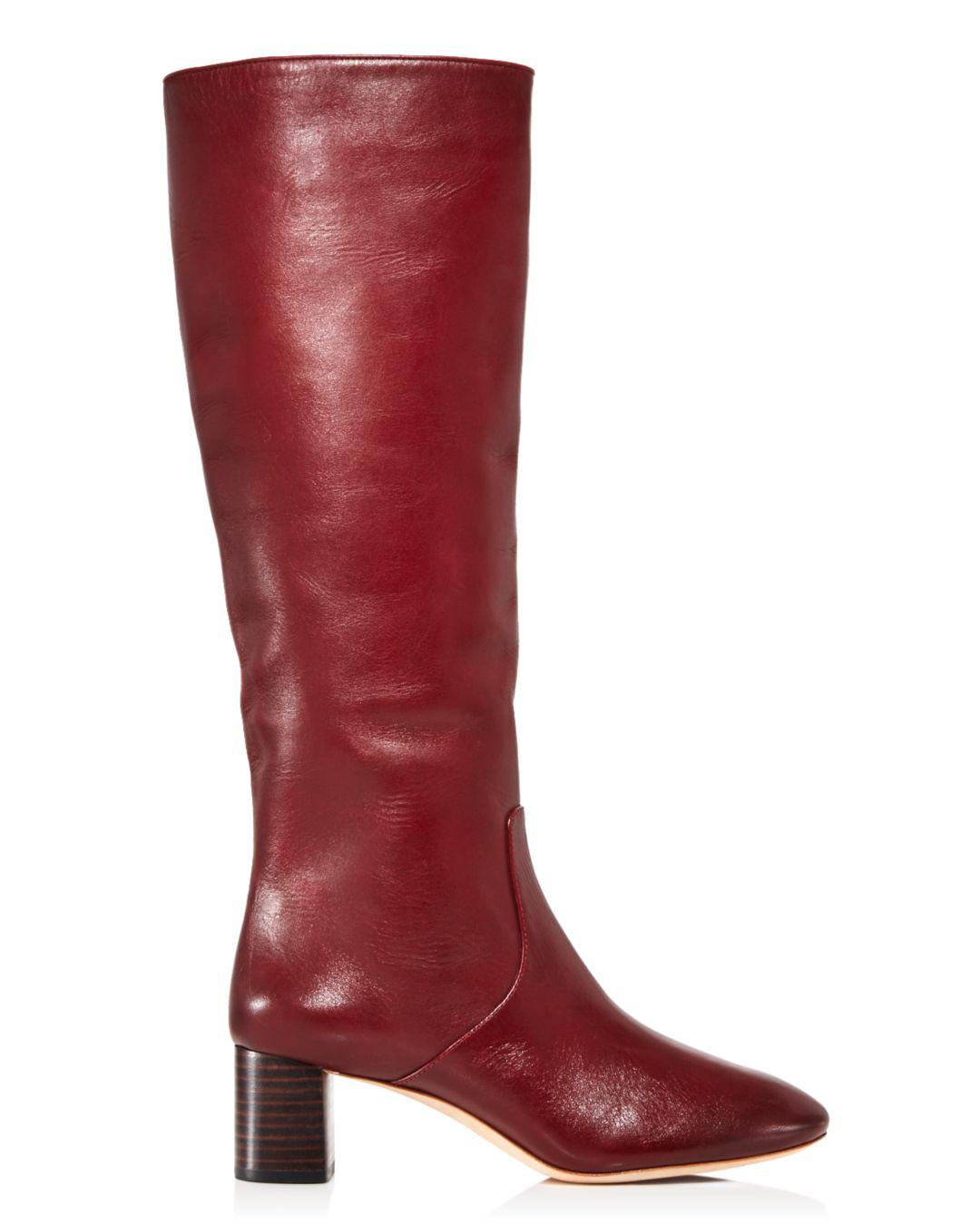 58fbfc7e9f0b Loeffler Randall. Red Women s Gia Pointed Toe Knee-high Leather Mid-heel  Boots