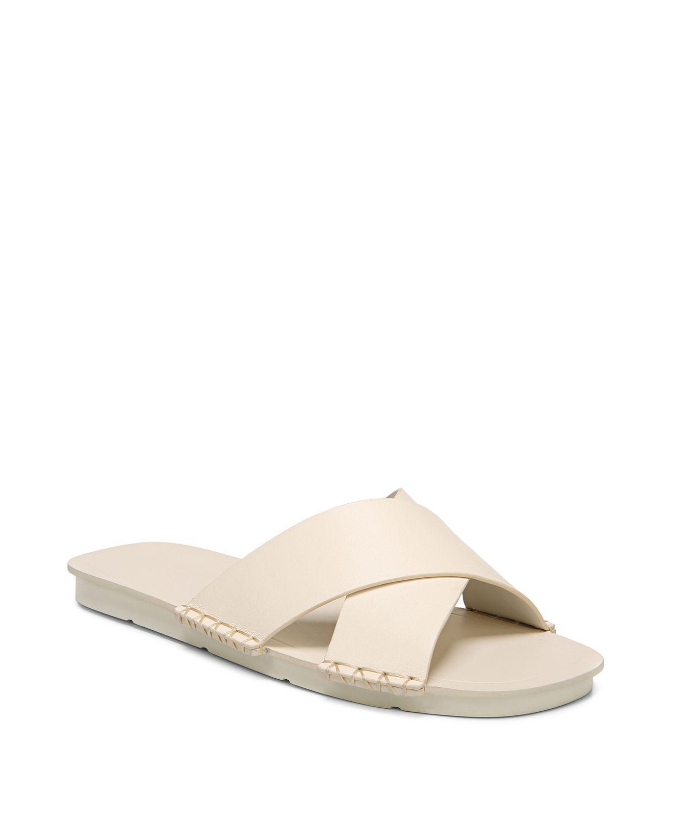 Vince Women's Nico Leather Slide Sandals ve1Pb