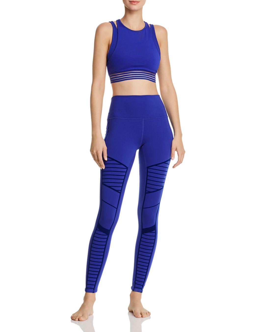 64ed7e23a4 Lyst - Alo Yoga Flocked Moto Leggings in Purple - Save 20%