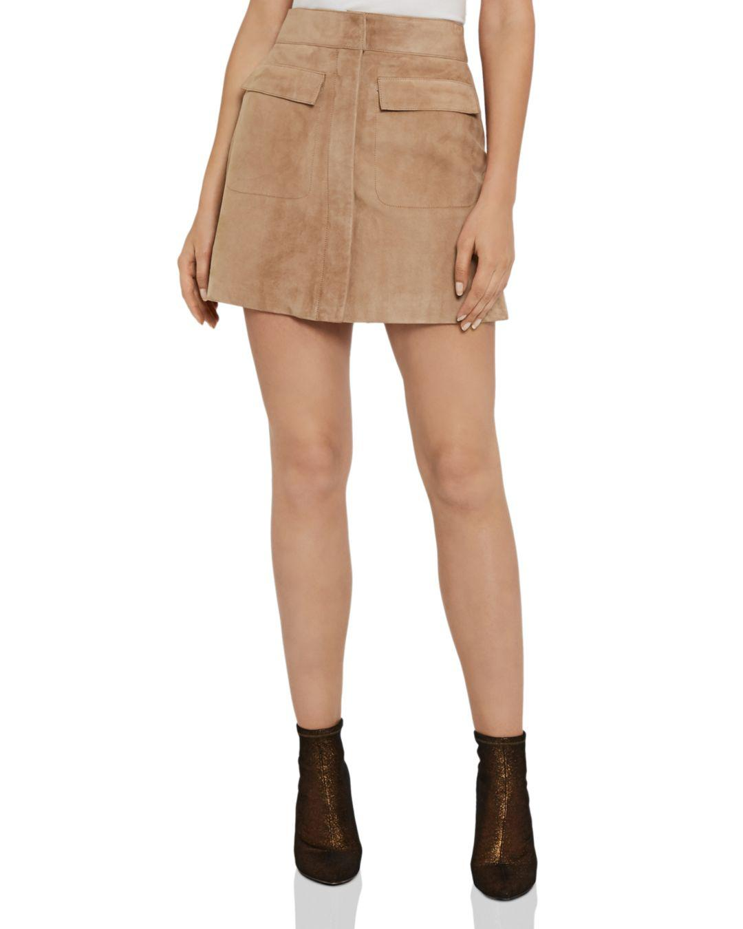 f1a0f6b63 Lyst - Reiss Leah Suede Mini Skirt