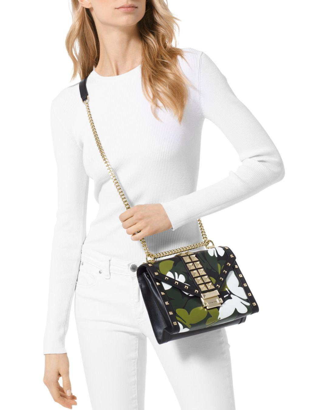 f2da7ee351d0 Lyst - MICHAEL Michael Kors Whitney Large Studded Leather Shoulder Bag