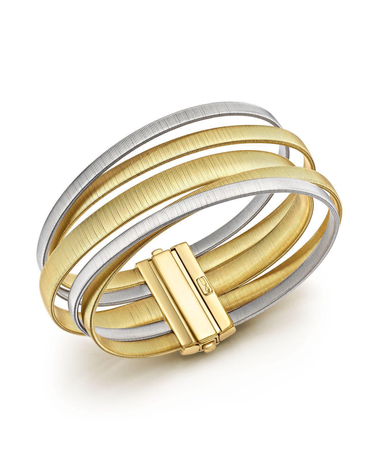 Marco Bicego Masai 18K Yellow & White Gold Five-Strand Bracelet DeYt1m