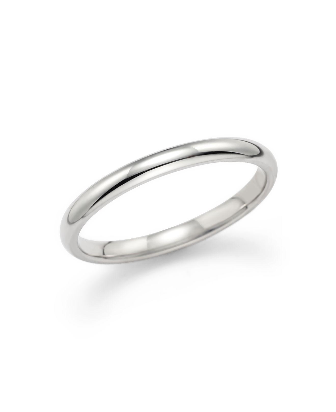 Lyst Bloomingdales Polished Comfort Feel Wedding Ring In 14k