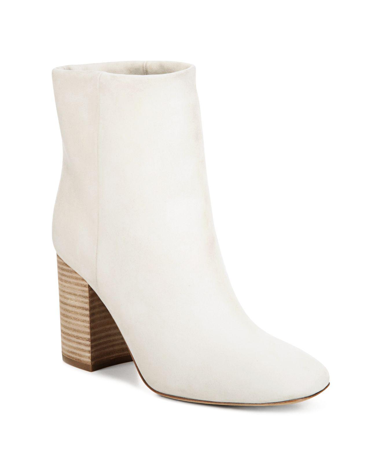 Vince Women's Felton Leather Block Heel Booties vNb4wivJ