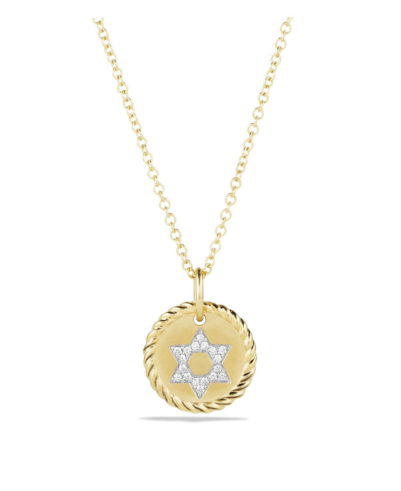 18kt yellow gold Cable Collectibles petit diamond pav navTX