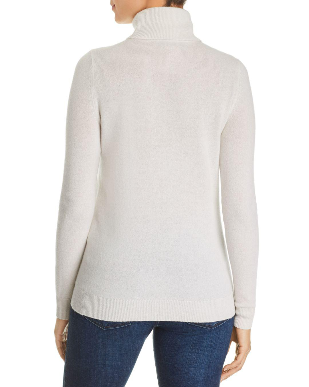 Lyst - C By Bloomingdale s Cashmere Turtleneck Sweater in White edc8f506c