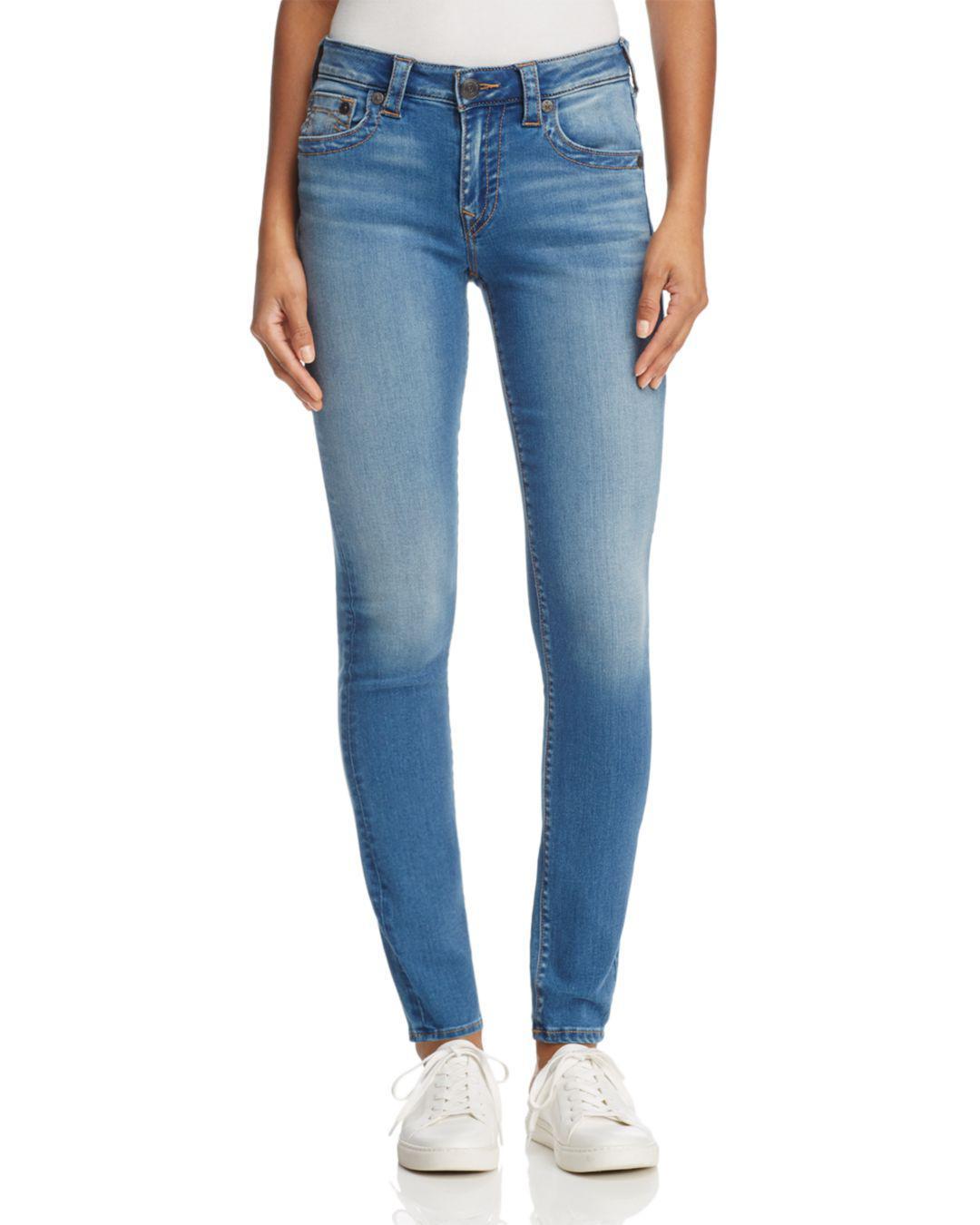 393139b1b94e4 True Religion Jennie Curvy Skinny Jeans In Authentic Indigo in Blue ...
