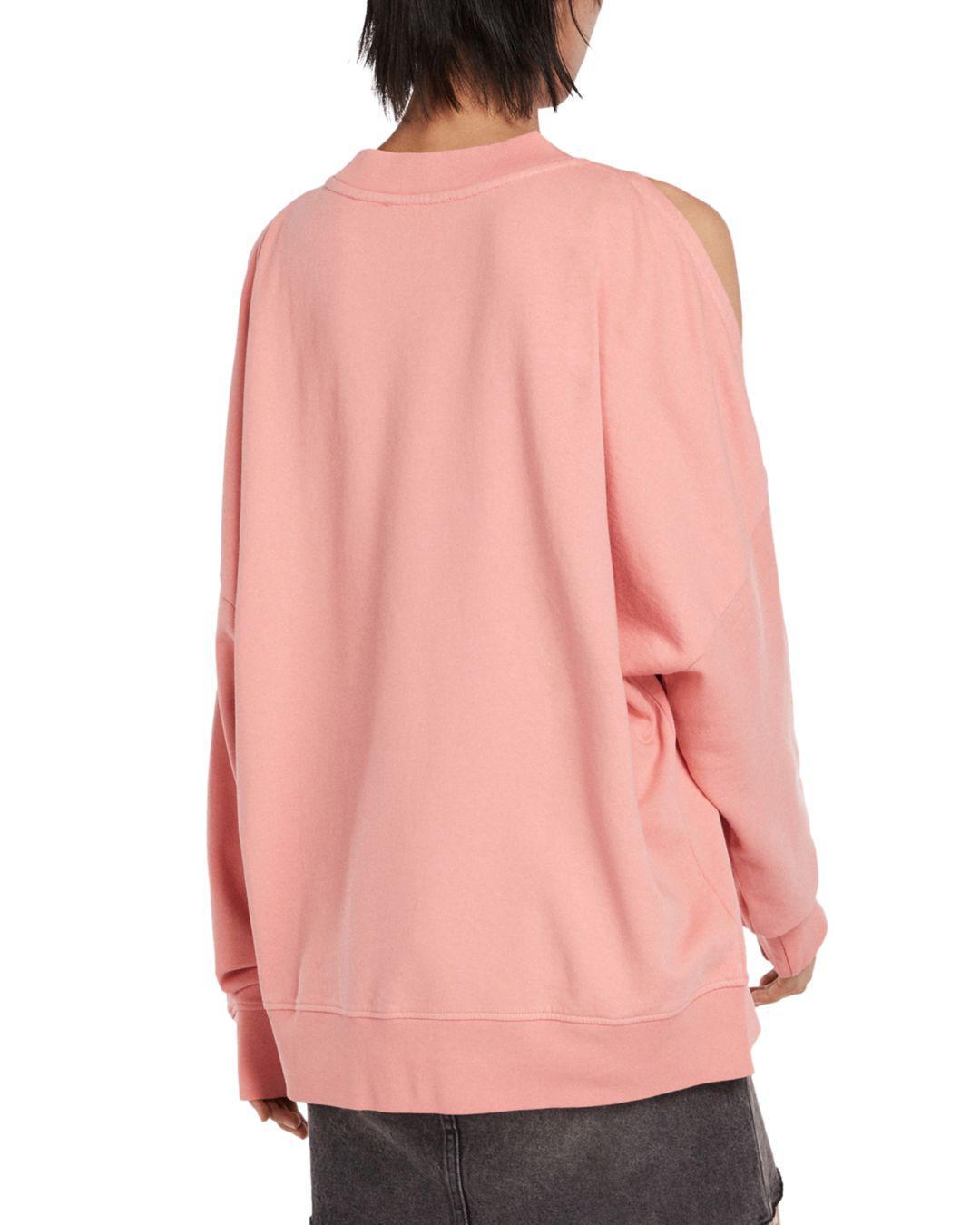 c498caa9e121d7 Lyst - AllSaints Unai Oversized Cold-shoulder Sweatshirt in Pink - Save 20%