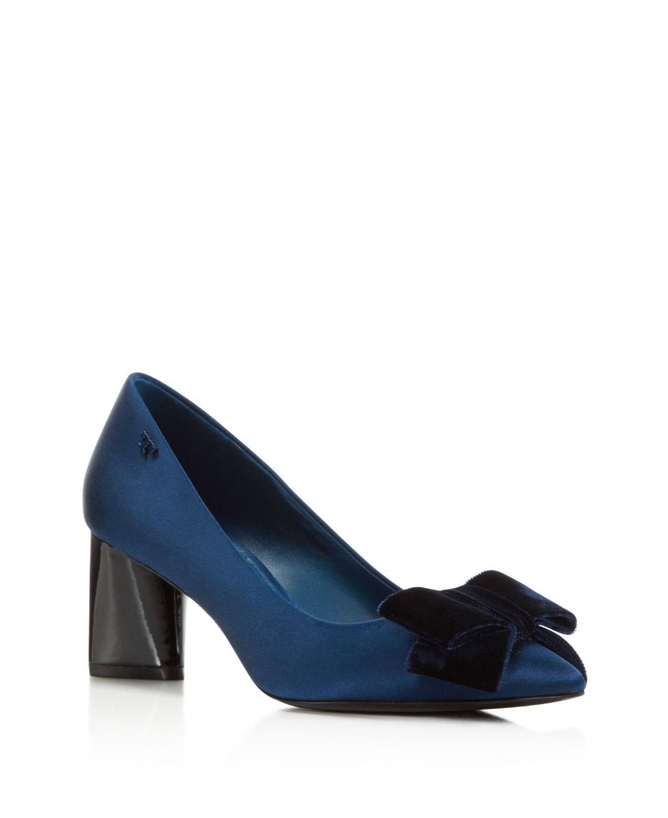 Pumps & High Heels for Women On Sale, Royal Navy Blue, Suede leather, 2017, 7.5 Tory Burch