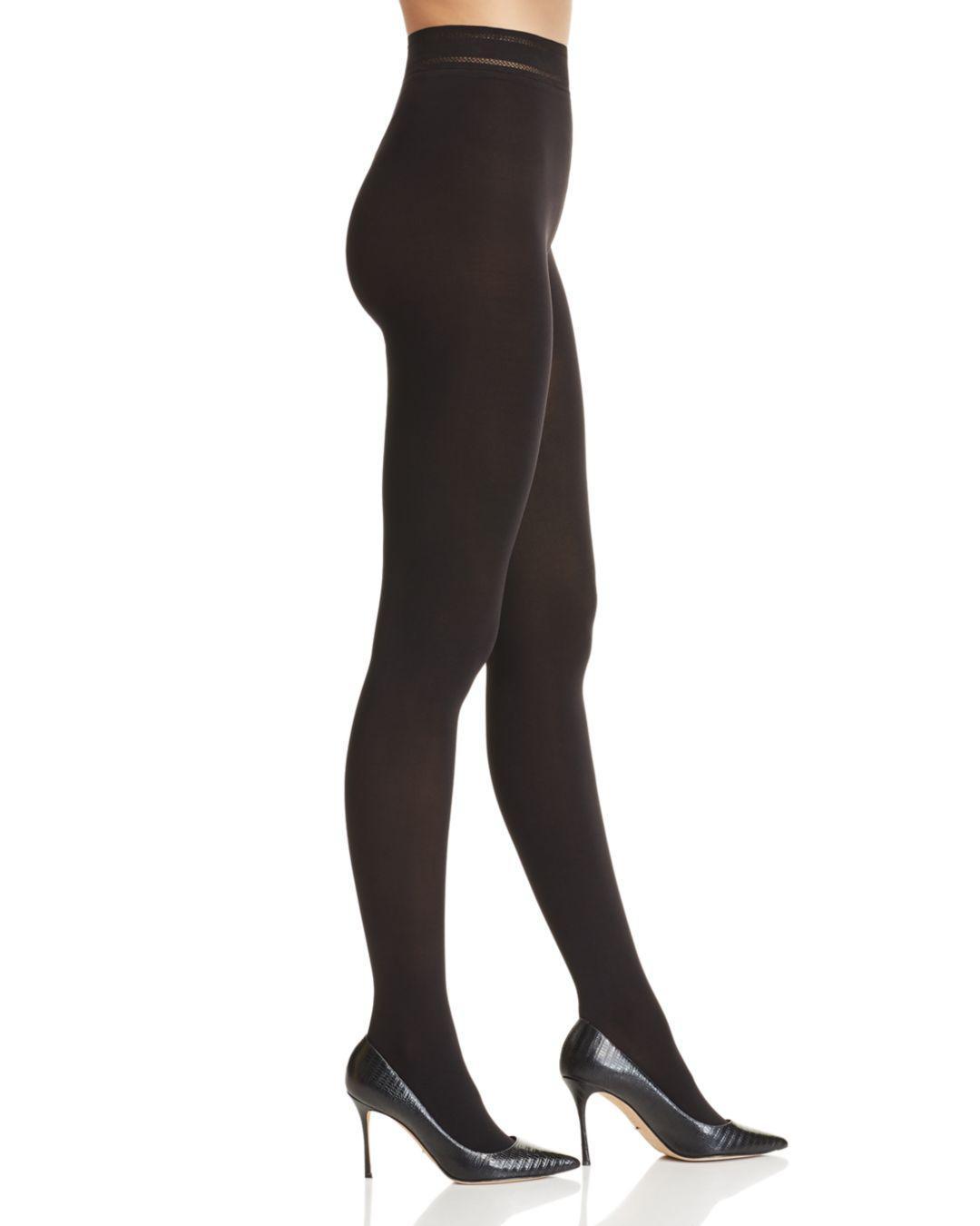 7c0847e928 Donna Karan Matte Jersey Opaque Tights in Black - Lyst