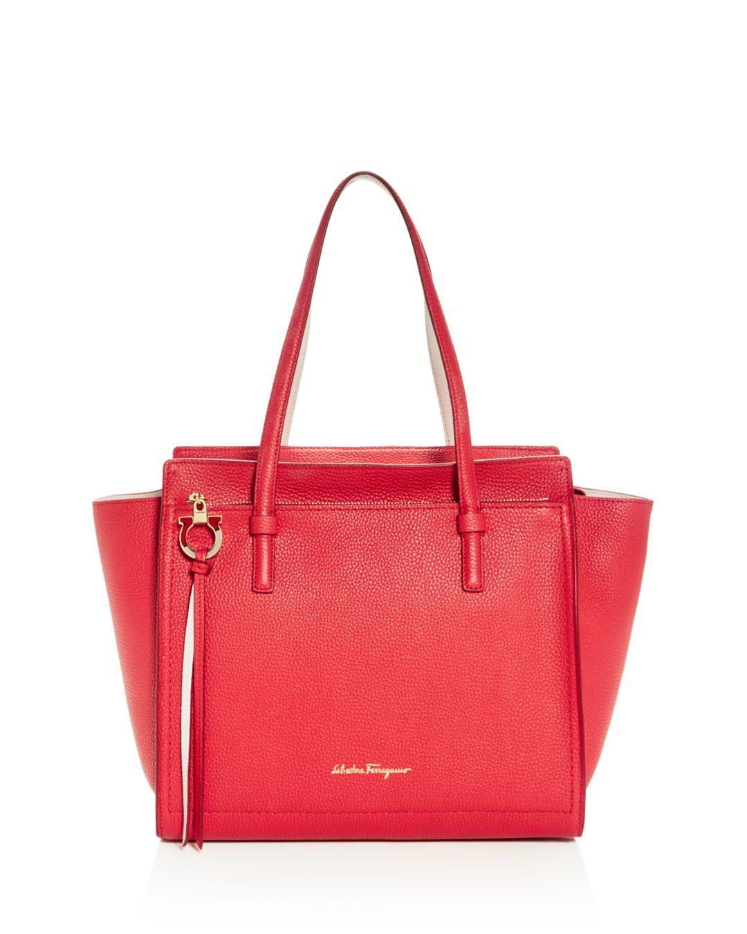 9a8708fa74 Lyst - Ferragamo Amy Medium Leather Shoulder Bag in Red