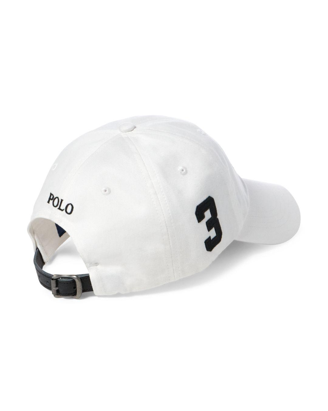 186cc1f16c3 ... Lyst - Ralph Lauren Polo Big Pony Chino Baseball Cap in White for Men  price reduced ...