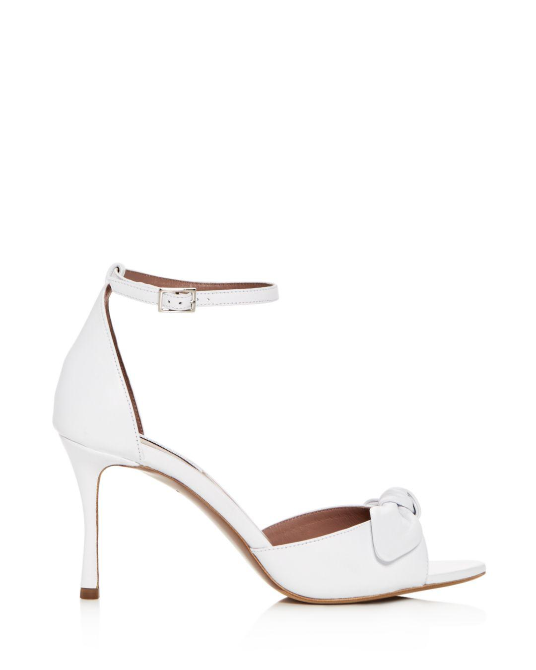 0466629984 Lyst - Tabitha Simmons Women's Mimmi Leather High-heel Sandals in White