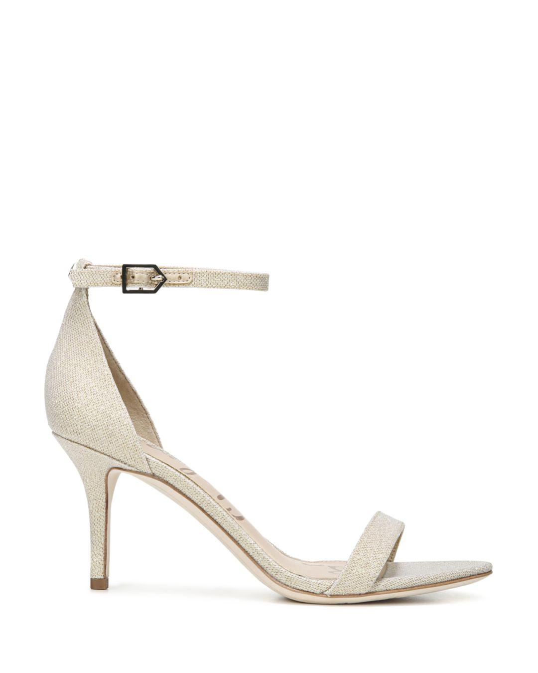 c1c4bf5789a140 Lyst - Sam Edelman Patti Ankle Strap Sandals in Natural - Save 31.0%