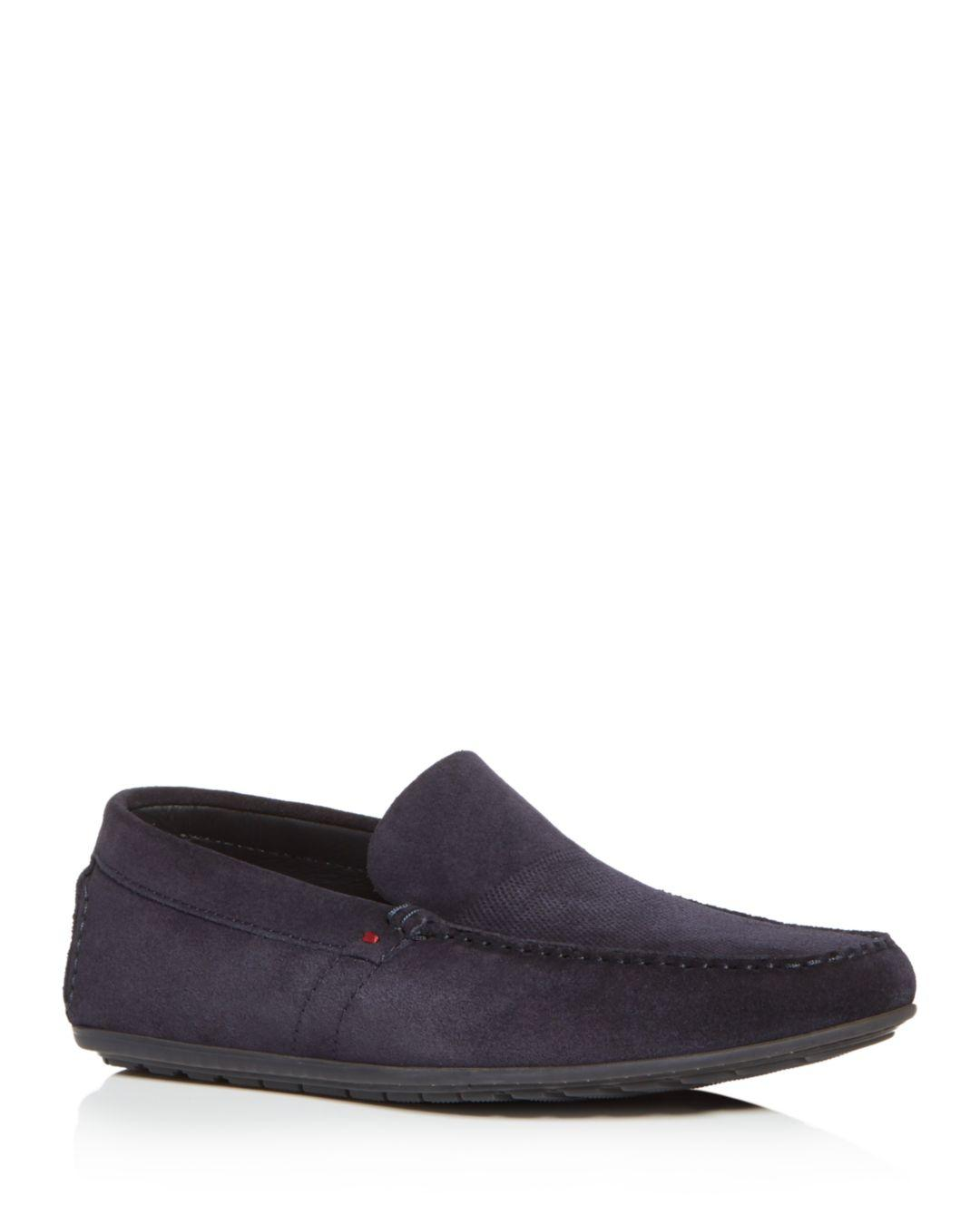 4fd32af9d24 Lyst - BOSS Hugo Boss Men s Dandy Perforated Leather Loafer in Blue ...
