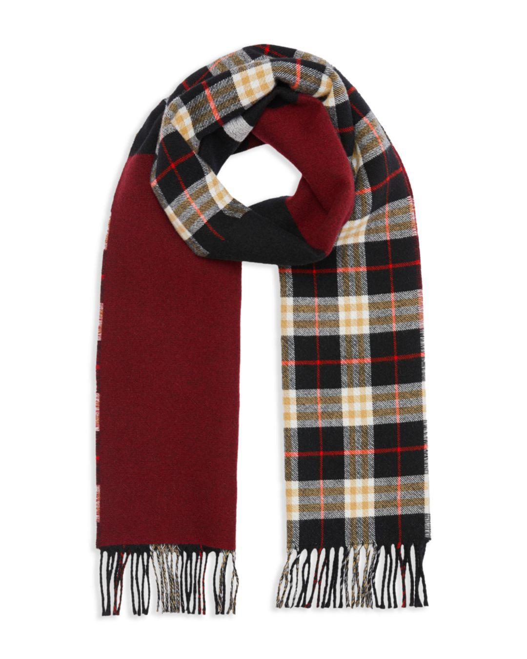 1b1d745c337b1 Burberry - Black Stripe-accented Color-block Scarf for Men - Lyst. View  fullscreen