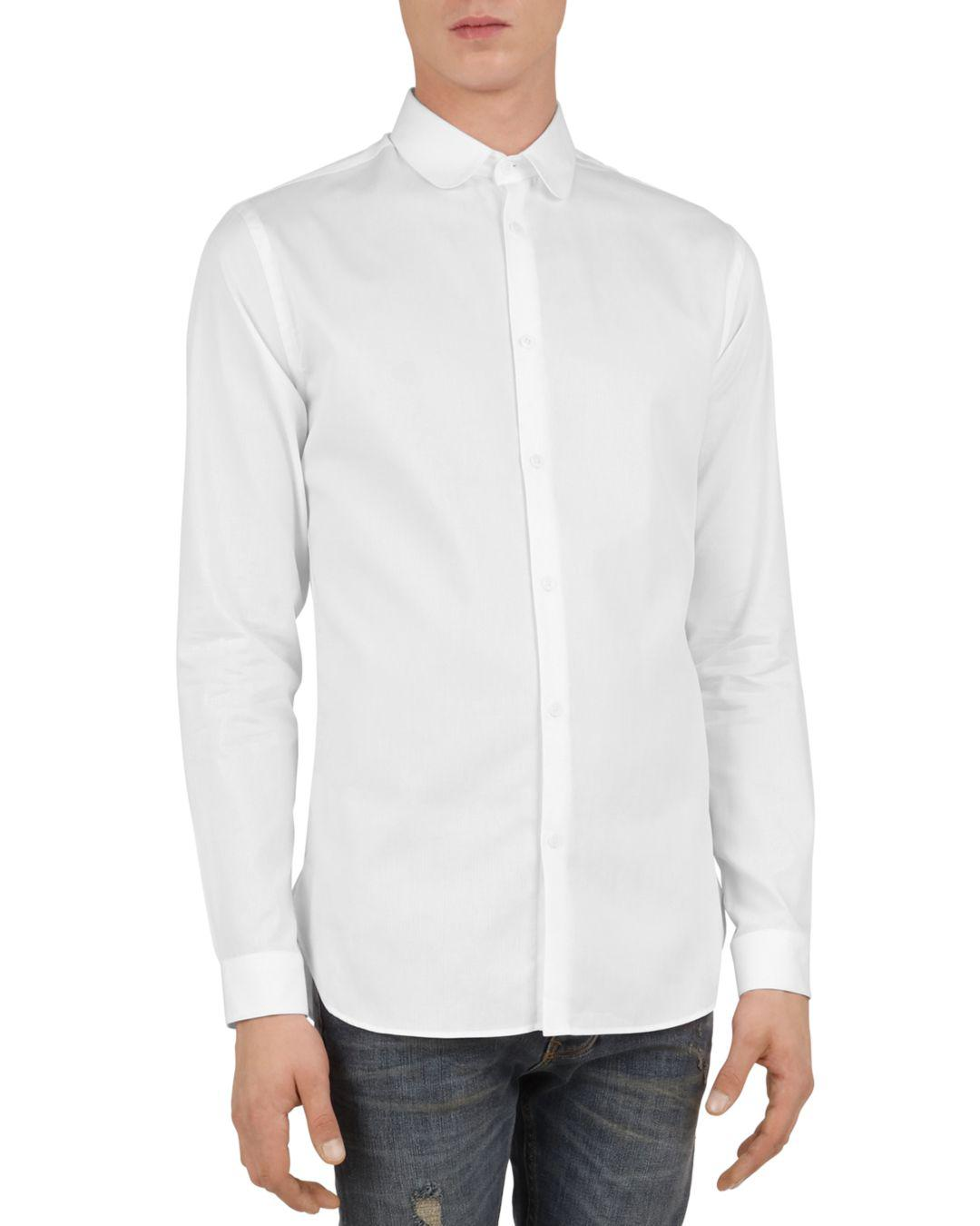 933270ca Lyst - The Kooples Liz Slim Fit Button-down Shirt in White for Men