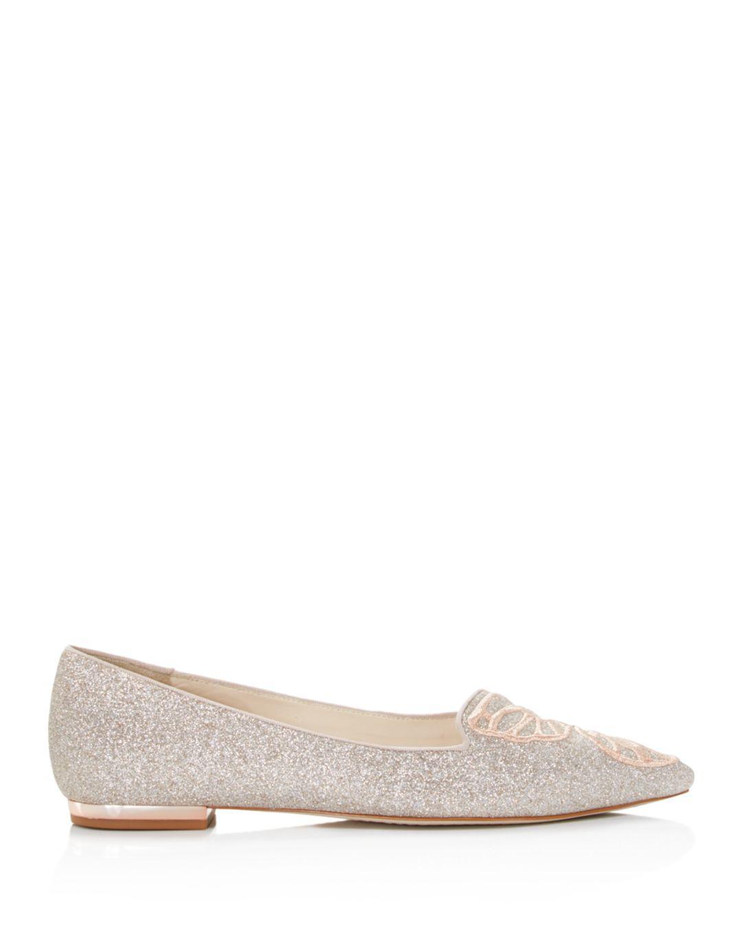 3ecd337cff56 Lyst - Sophia Webster Women s Bibi Butterfly Pointed Toe Leather Flats