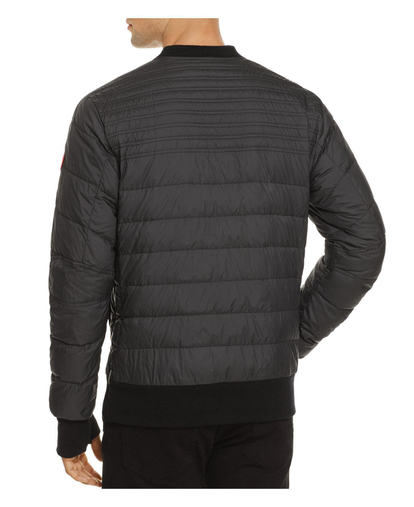b6326390 Canada Goose Albanny Quilted Down Sweatshirt in Black for Men - Lyst