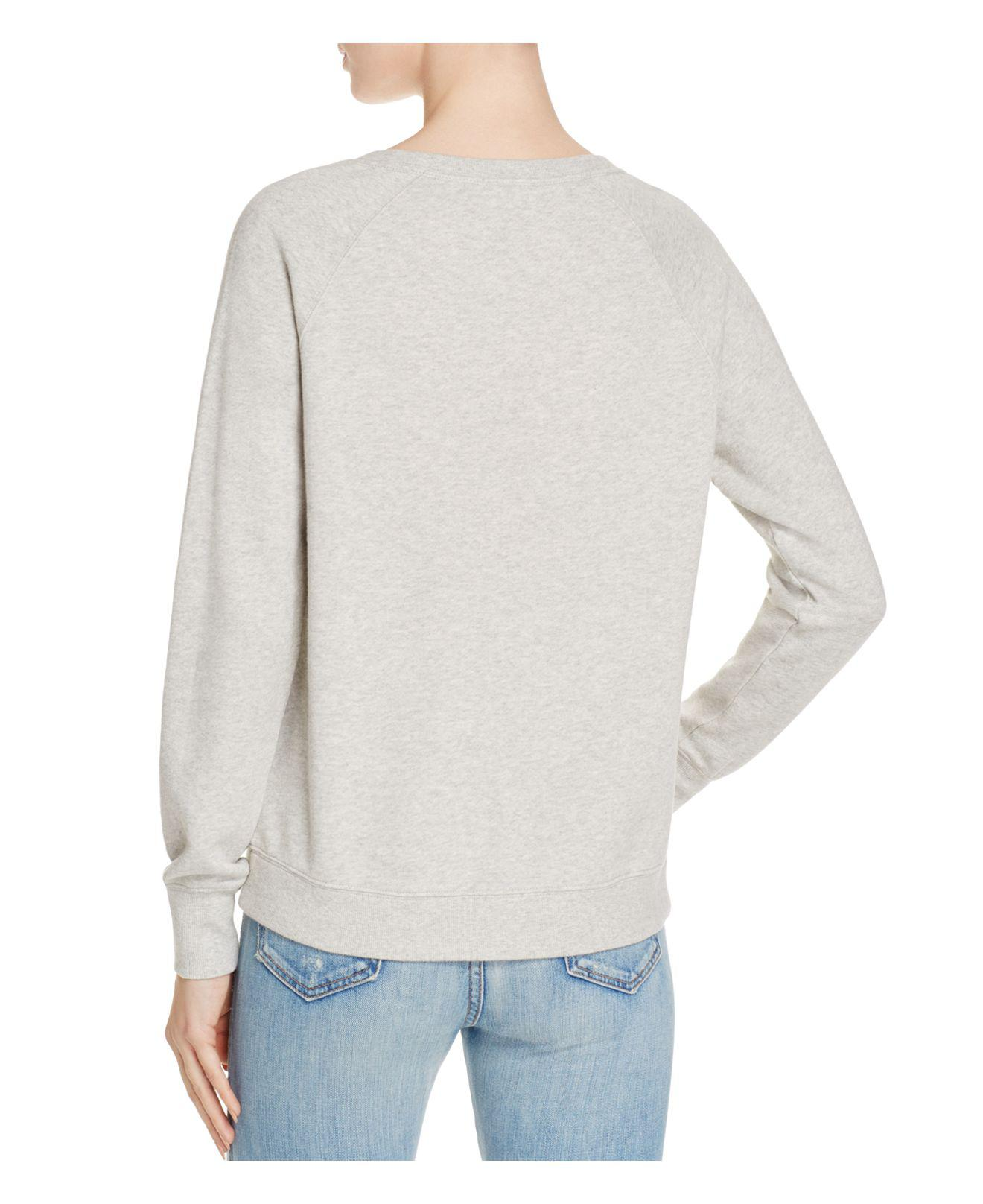 92286b689d32e8 Soft Joie Annora Embroidered Sweatshirt in Gray - Lyst