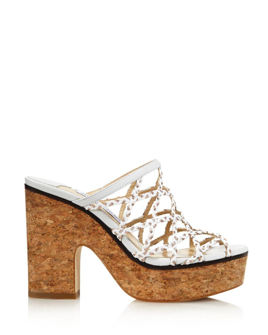 c7691a82b9586 Lyst - Jimmy Choo Women s Dalina Caged Platform Sandals in White