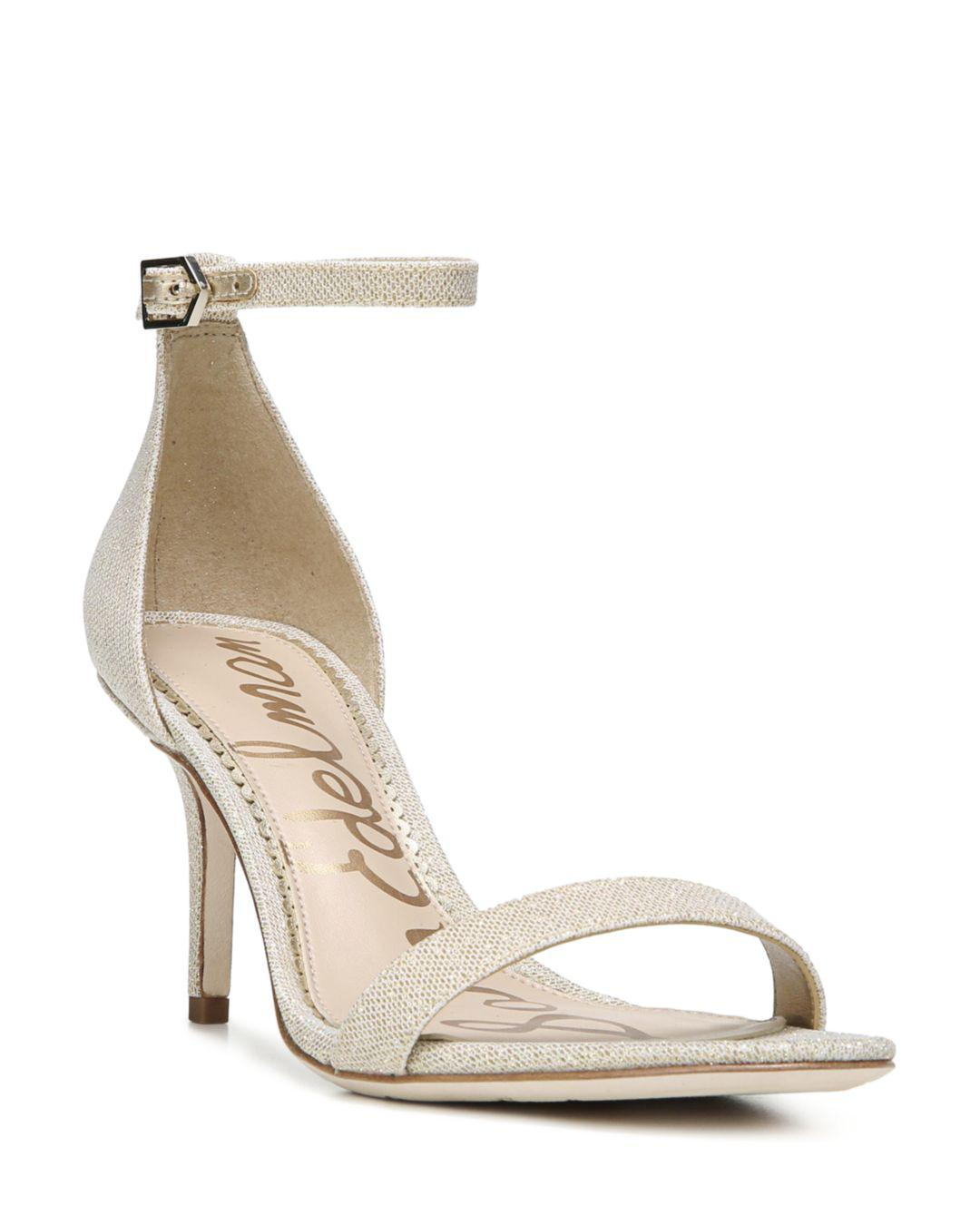ca7044c45 Lyst - Sam Edelman Patti Ankle Strap Sandals in Natural - Save 33%