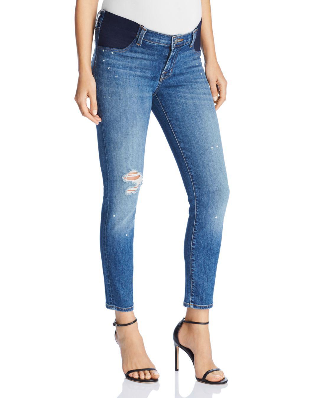 66fc6a8765bec Lyst - J Brand Mama J Skinny Capri Maternity Jeans In Indiana in Blue