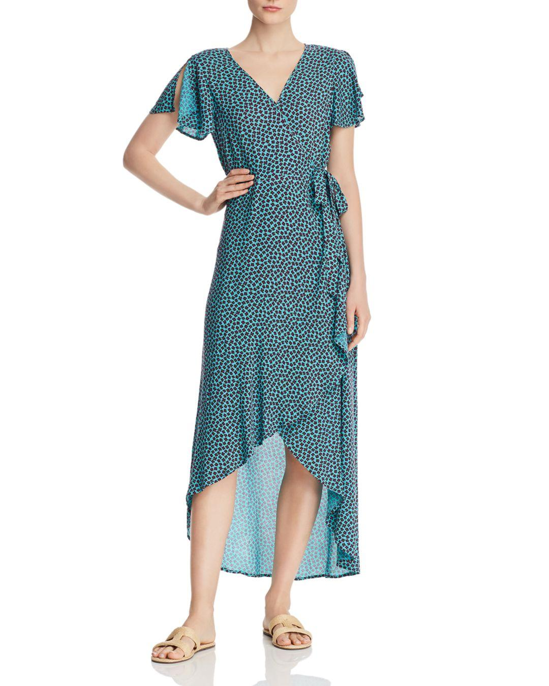 ecb3b177794 Lyst - Band Of Gypsies Martinique Floral Maxi Wrap Dress in Blue