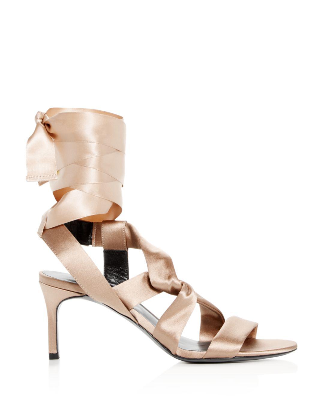 8694bc9eb7a9 Lyst - Via Spiga Women s Jett Ankle Tie High-heel Sandals