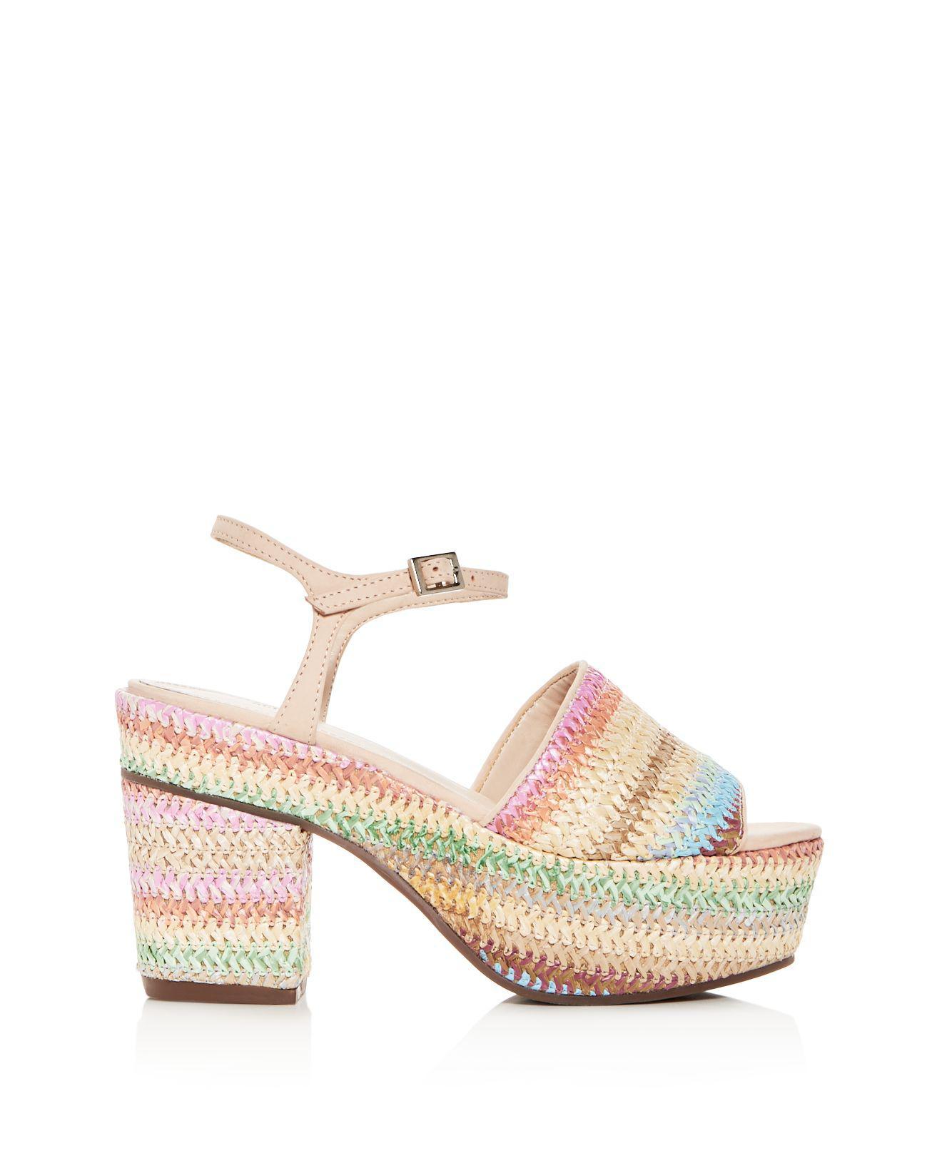 Schutz Women's Ziquiele Raffia Block Heel Platform Sandals uAtqzcV