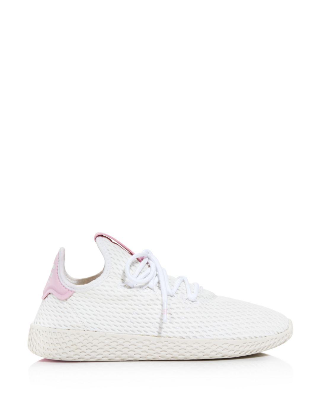 da6eec4b8d8a2 Adidas X Pharrell Williams Women s Tennis Hu Lace Up Sneakers in White -  Lyst