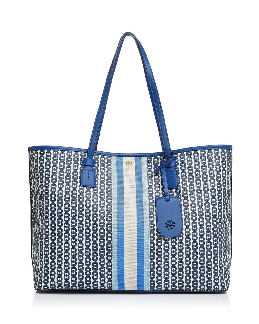 ef8bbd7a9186 Tory Burch Gemini Link Canvas Tote in Red - Lyst