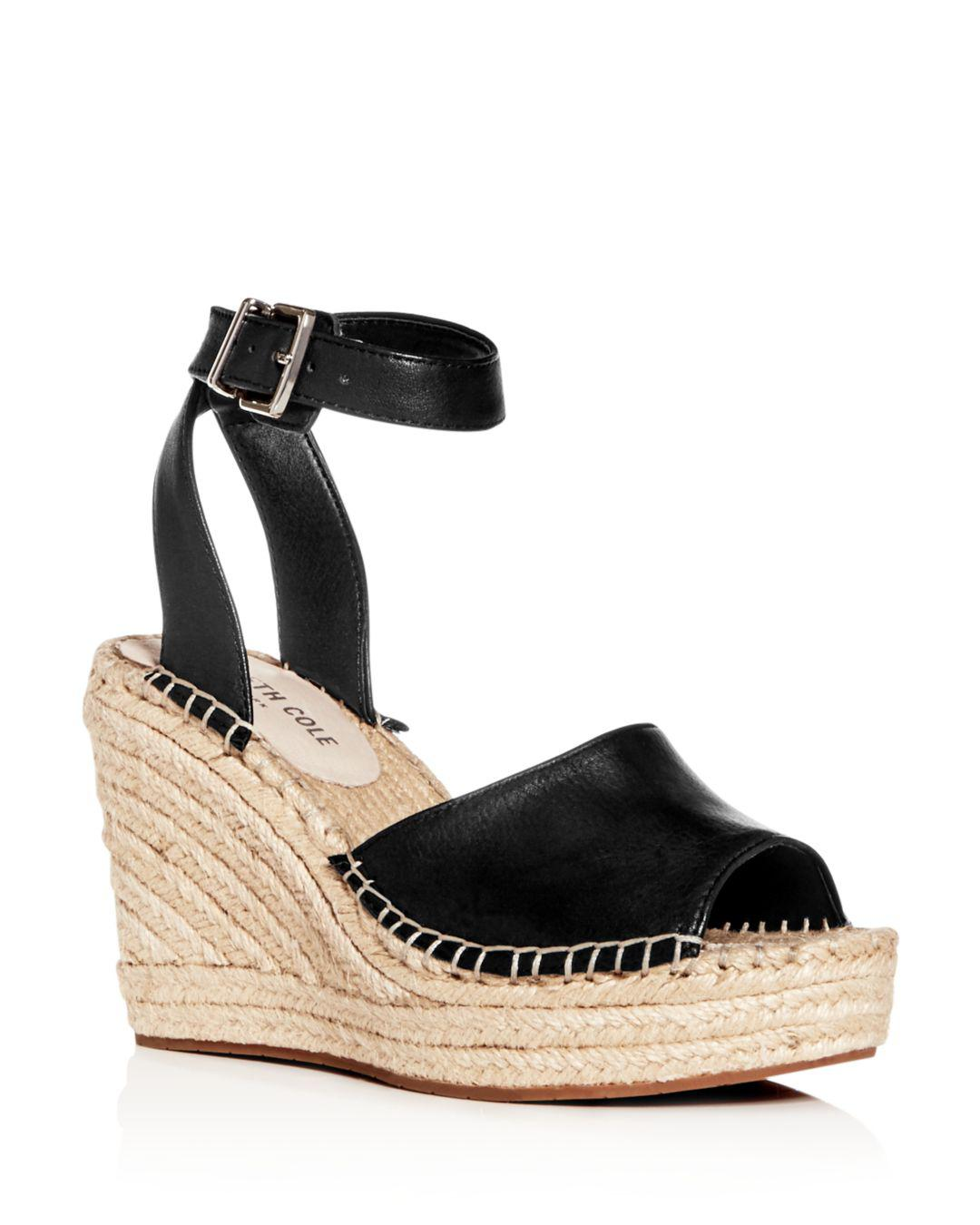 a956bb5d37b Lyst - Kenneth Cole Women s Olivia Espadrille Wedge Sandals in Black ...