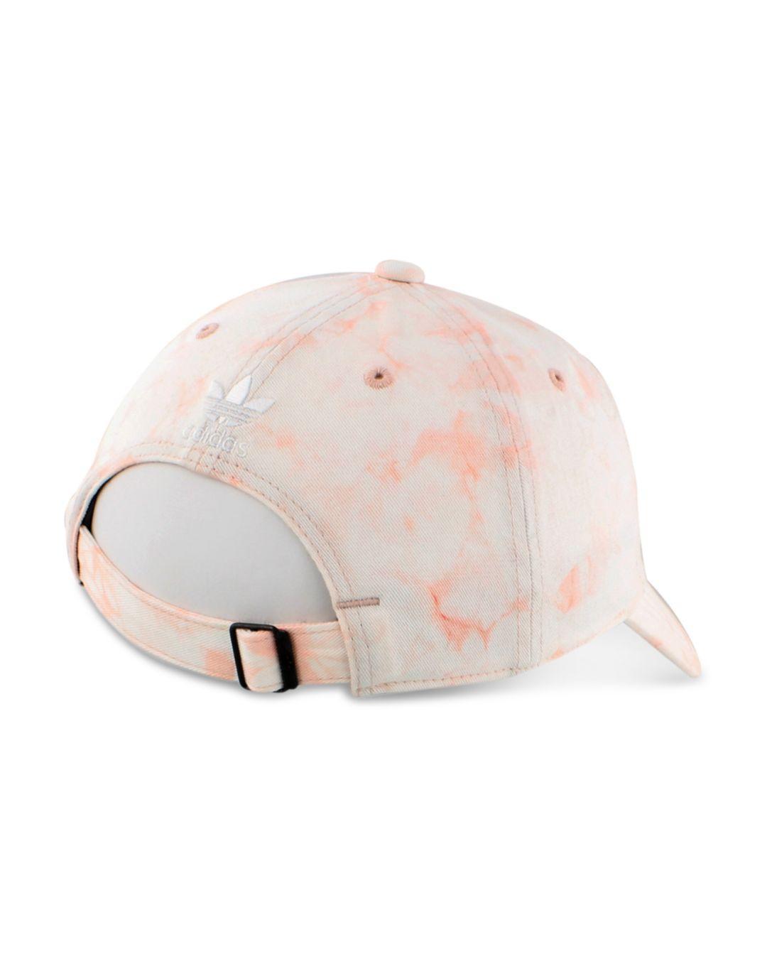 3262de2b adidas Tie-dye Logo Baseball Cap in Pink - Lyst