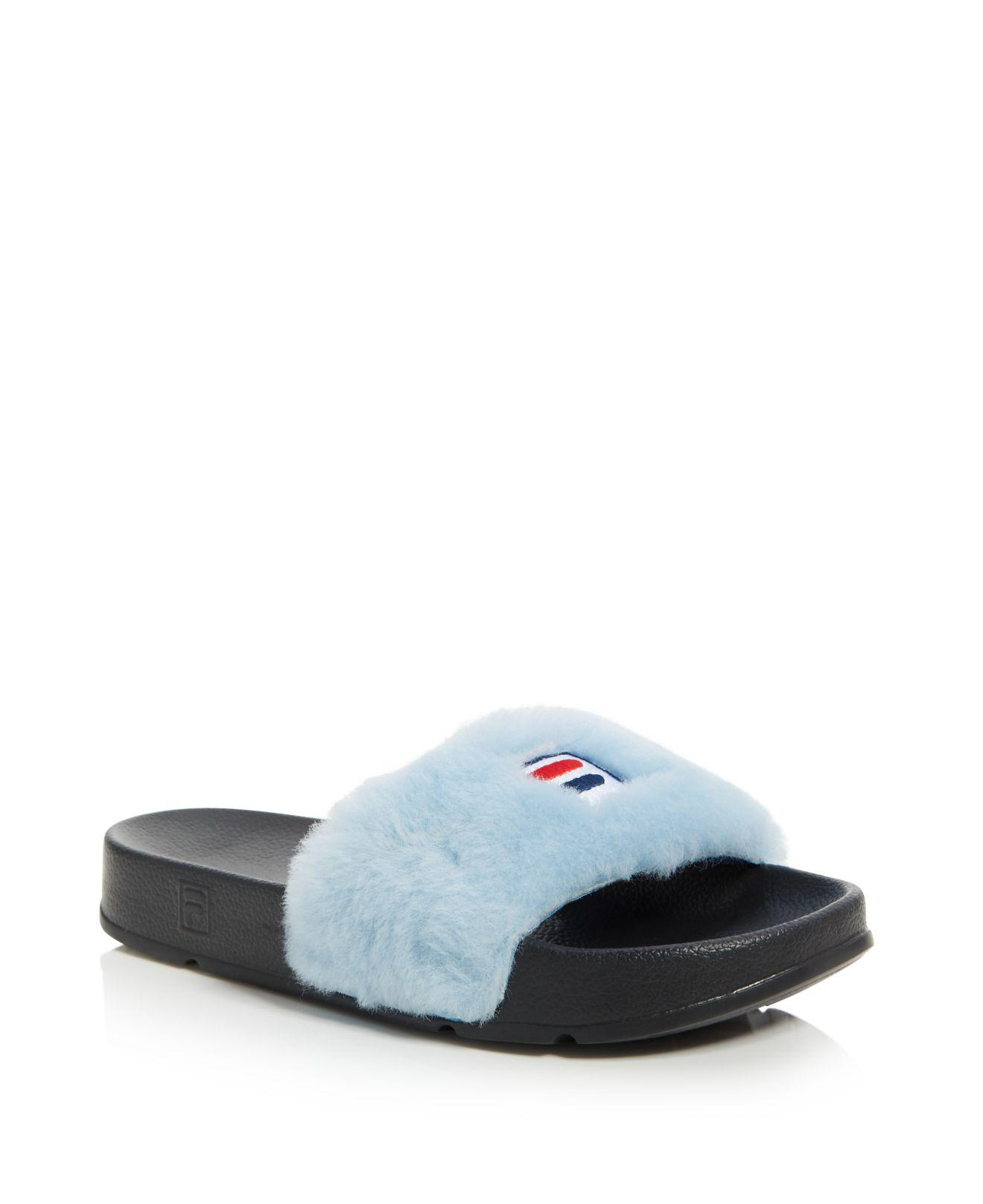 Baja East x FILA Shearling Slide Sandals sale nicekicks shop cheap price buy cheap fake great deals cheap online FP0PicyT