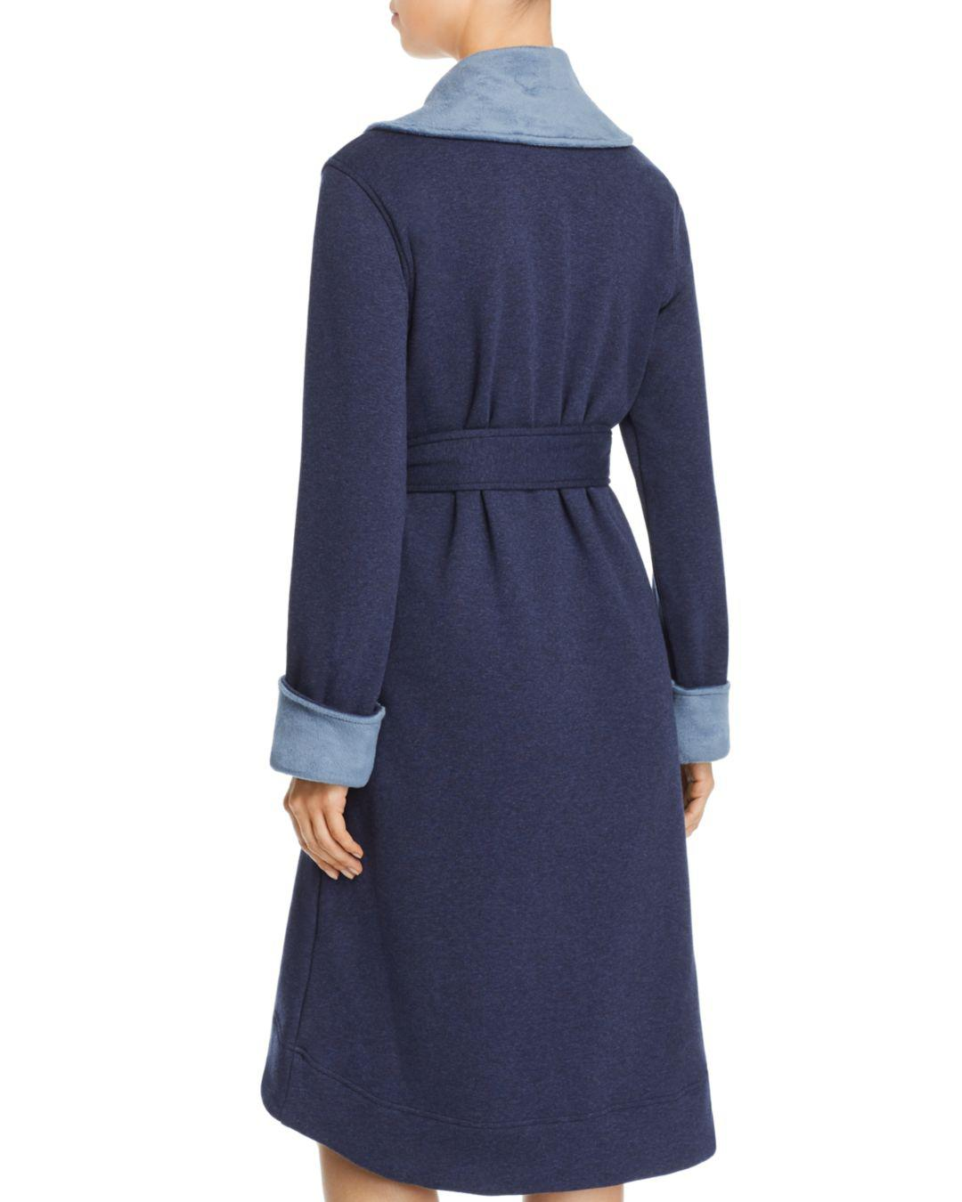 4a1a75550d Lyst - UGG Duffield Ii Double-knit Fleece Robe in Blue