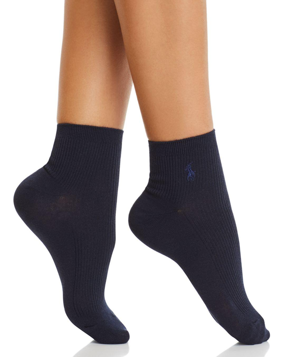 fd746303 Lyst - Ralph Lauren Basic Rib Anklet Socks in Blue