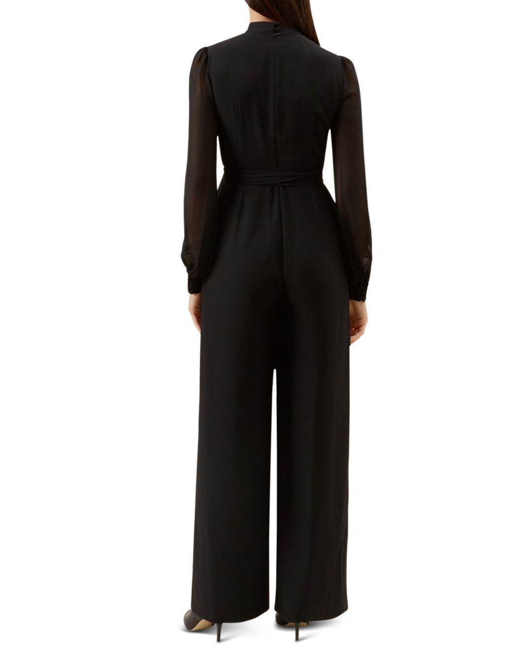 eaed03f7c56 Lyst - Hobbs Vera Wide-leg Jumpsuit in Black