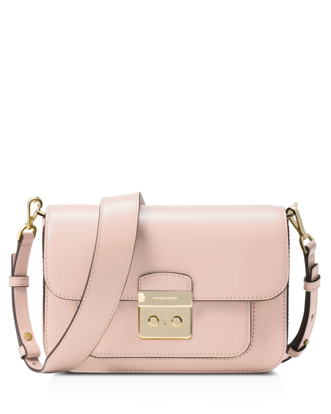 21b68ad4c7c7 MICHAEL Michael Kors Sloan Editor Large Leather Shoulder Bag in Pink ...