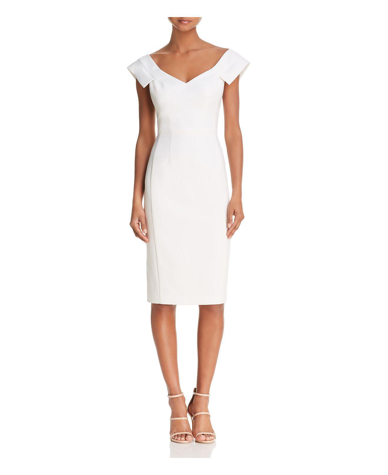 ruched midi dress - White Black Halo ohiFFLZh5N