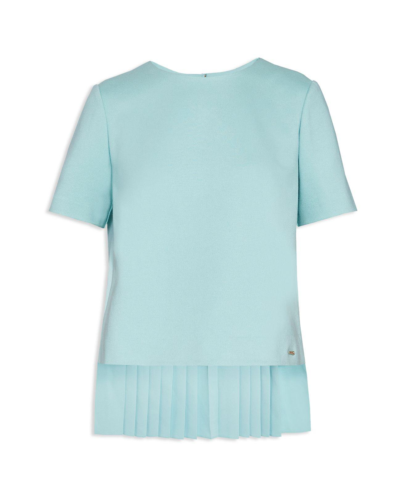 Lyst - Ted Baker Colour By Numbers Naevaa Pleat-back Top in Blue