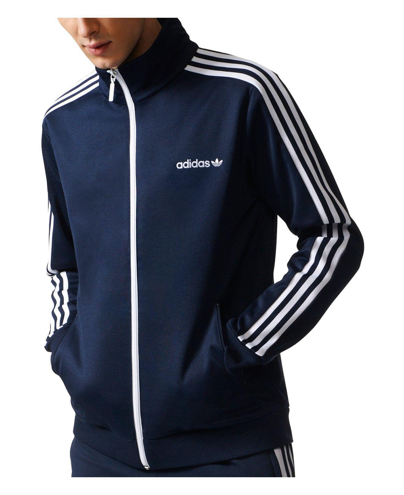 830debadde3 adidas Osaka Velour Beckenbauer Jacket In Navy Cv8959 in Blue for ...