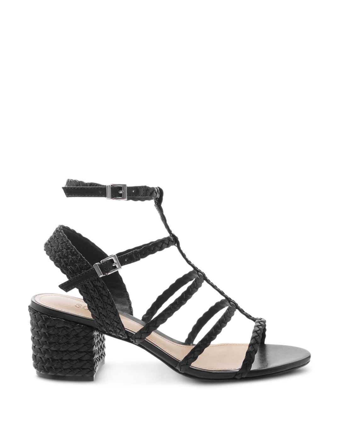 15eda3a70 Schutz Women s Rosalia Strappy Block-heel Sandals in Black - Save 46% - Lyst