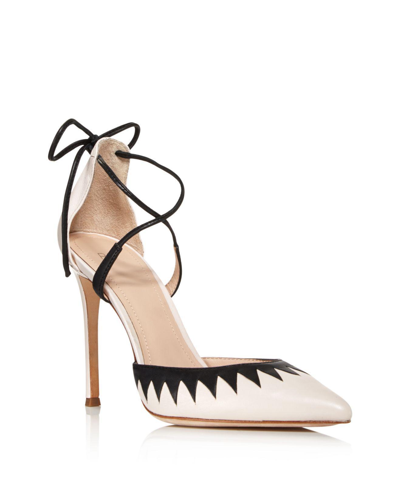 Pour La Victoire Women's Cenya Leather Ankle Tie Pumps Sale Cheap Affordable Visit New Cheap Online Cheap Sale Best Store To Get qDw1SMrg