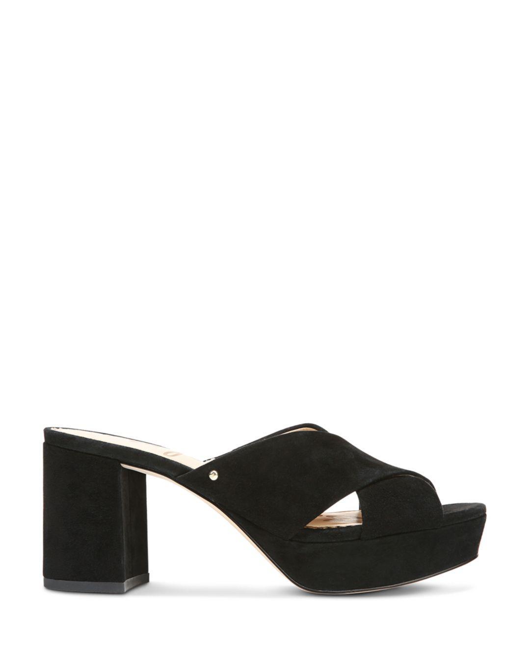300ed1e9f1694a Lyst - Sam Edelman Women s Jayne Suede Platform High-heel Slide ...