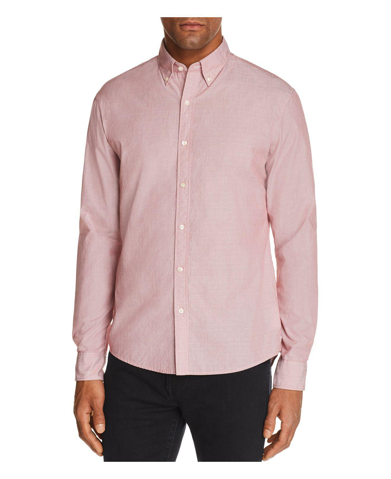 Michael kors dobby striped slim fit long sleeve button for Michael kors mens shirts sale