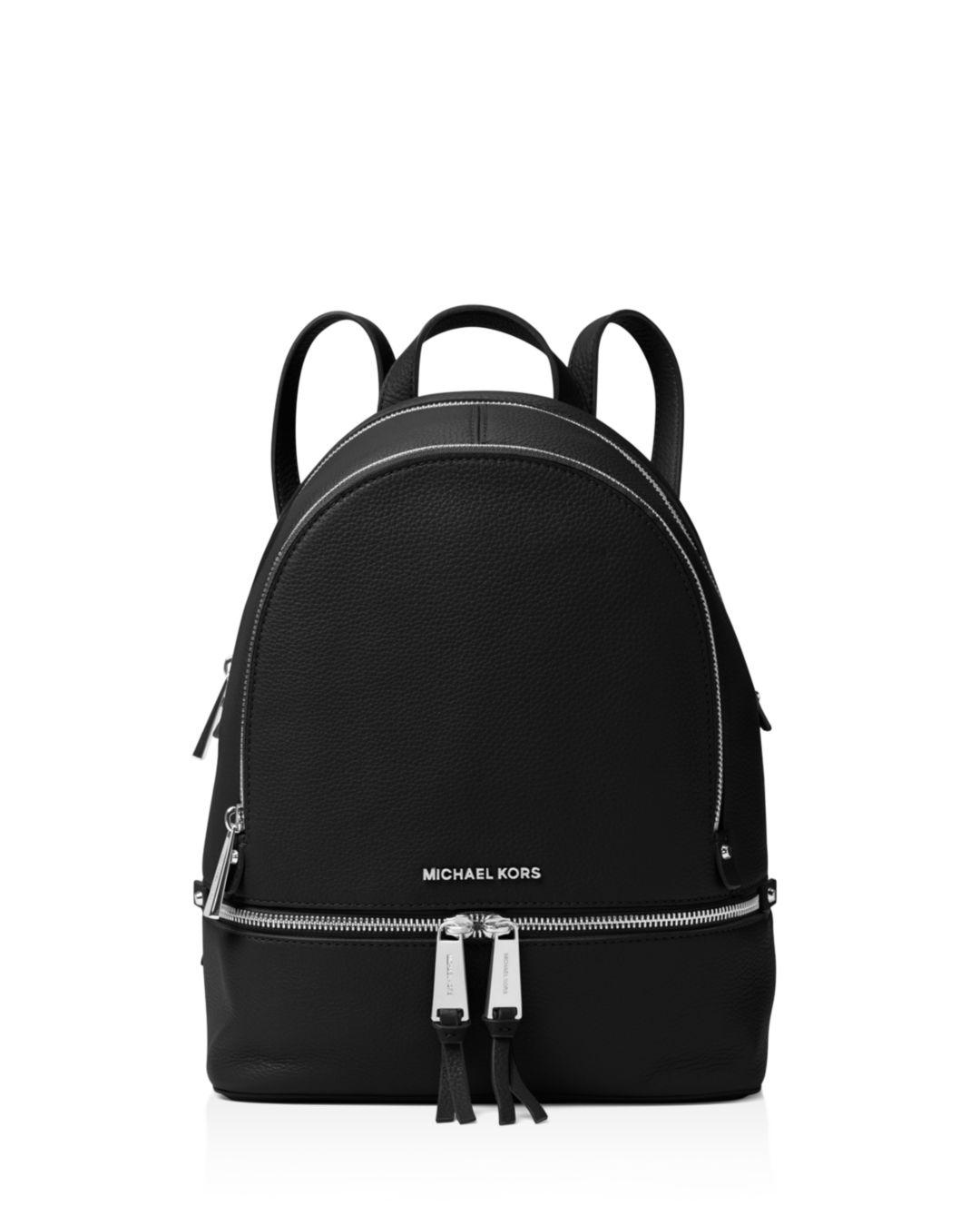 0f092aeb86a82 Lyst - MICHAEL Michael Kors Rhea Zip Medium Leather Backpack